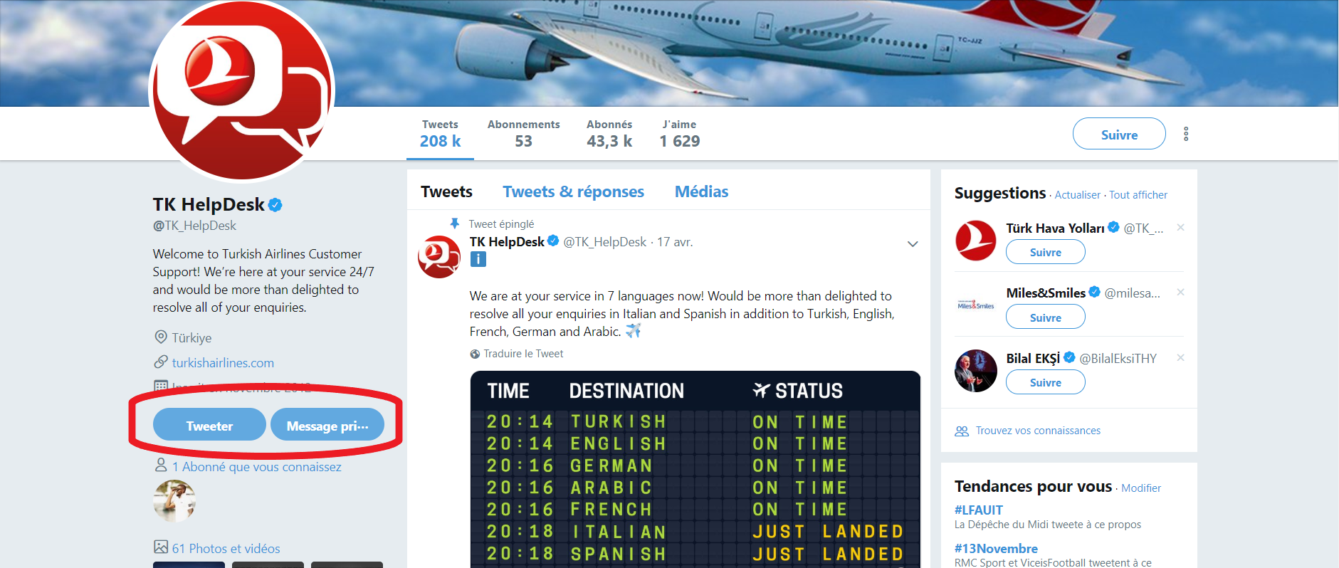 Twitter Turkish Airlines