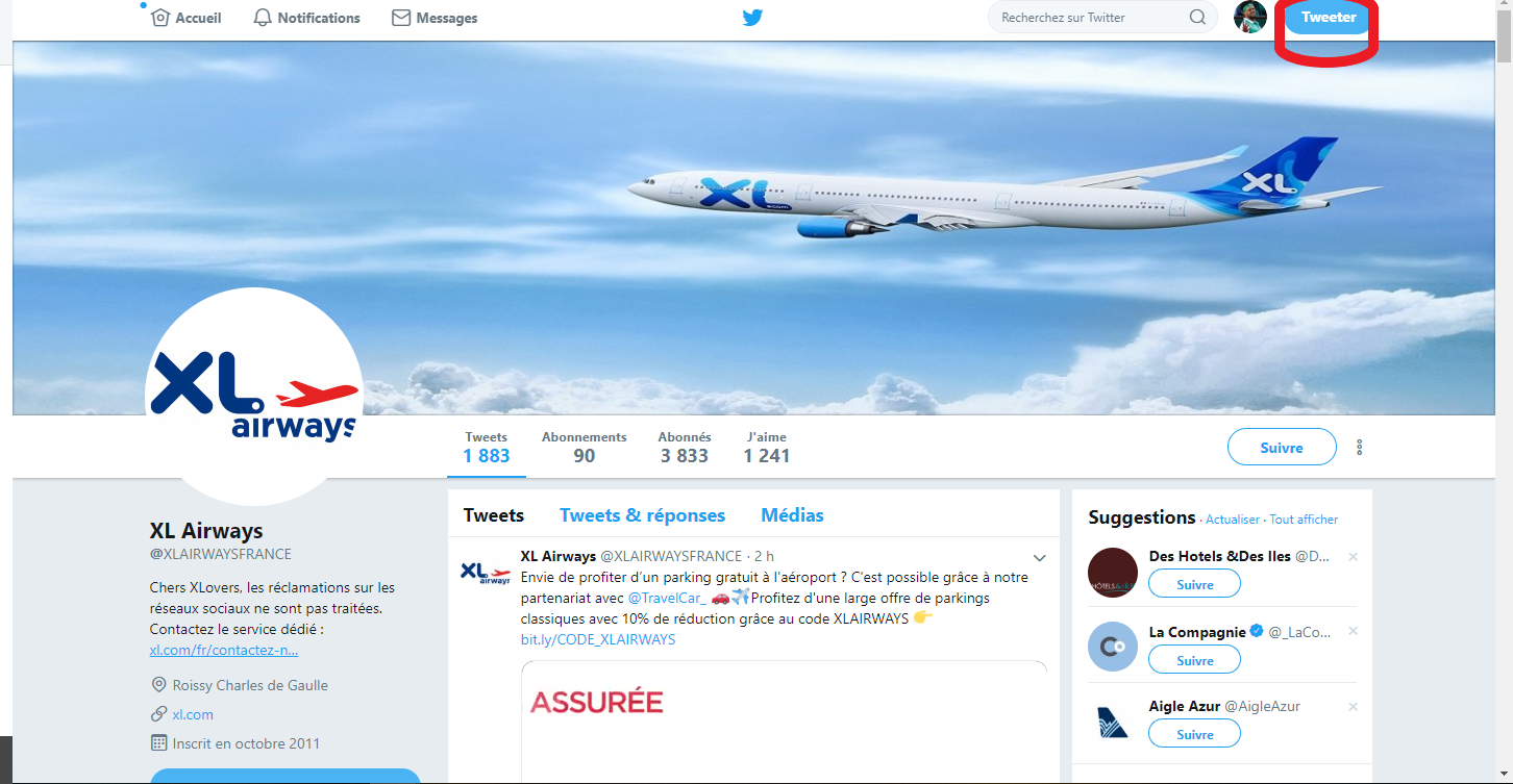 Twitter XL Airways